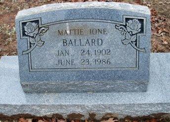 BALLARD, MATTIE IONE - Henderson County, Texas | MATTIE IONE BALLARD - Texas Gravestone Photos