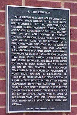 *HISTORIC MARKER,  - Henderson County, Texas    *HISTORIC MARKER - Texas Gravestone Photos
