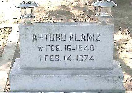 ALANIZ, ARTURO - Hidalgo County, Texas | ARTURO ALANIZ - Texas Gravestone Photos