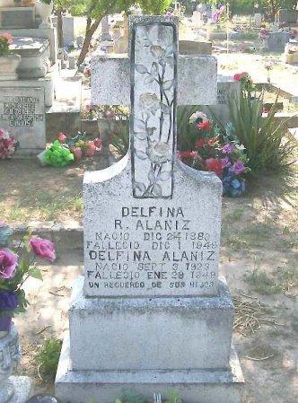 ALANIZ, DELFINA - Hidalgo County, Texas   DELFINA ALANIZ - Texas Gravestone Photos