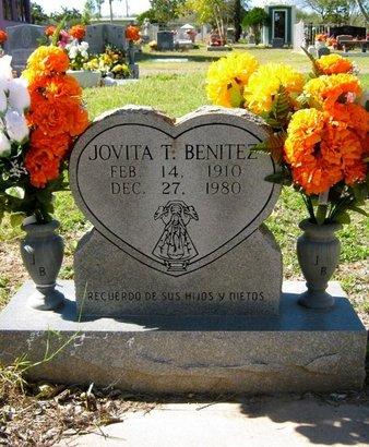 BENITEZ, JOVITA T - Hidalgo County, Texas | JOVITA T BENITEZ - Texas Gravestone Photos
