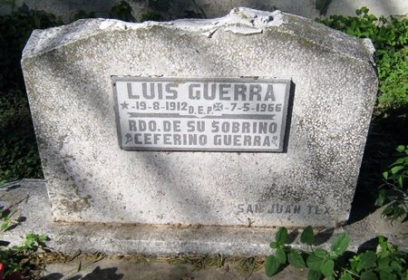 GUERRA, LUIS - Hidalgo County, Texas | LUIS GUERRA - Texas Gravestone Photos