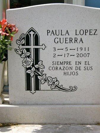 GUERRA, PAULA - Hidalgo County, Texas | PAULA GUERRA - Texas Gravestone Photos