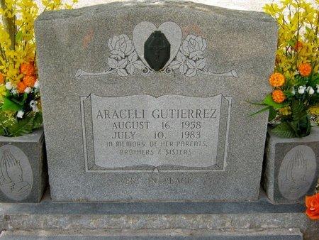 GUTIERREZ, ARACELI - Hidalgo County, Texas | ARACELI GUTIERREZ - Texas Gravestone Photos