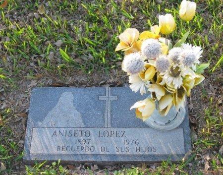 LOPEZ, ANISETO - Hidalgo County, Texas   ANISETO LOPEZ - Texas Gravestone Photos