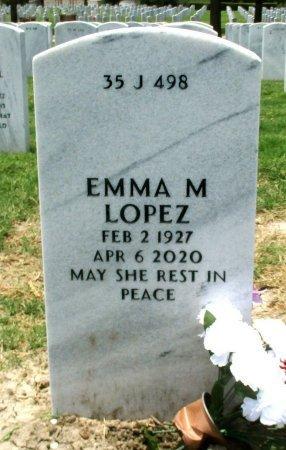 LOPEZ, EMMA M. - Hidalgo County, Texas   EMMA M. LOPEZ - Texas Gravestone Photos