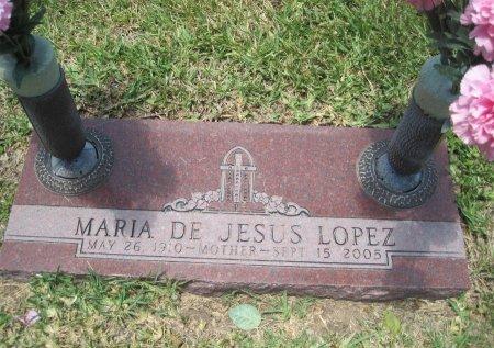 LOPEZ, MARIA DE JESUS - Hidalgo County, Texas | MARIA DE JESUS LOPEZ - Texas Gravestone Photos