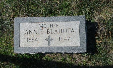 BLAHUTA, ANNIE - Hill County, Texas | ANNIE BLAHUTA - Texas Gravestone Photos