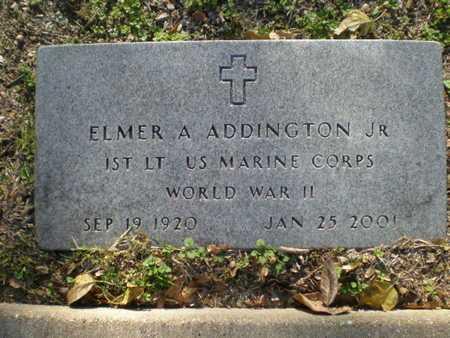 ADDINGTON, JR. (VETERAN WWII), ELMER ARTEMUS - Hood County, Texas   ELMER ARTEMUS ADDINGTON, JR. (VETERAN WWII) - Texas Gravestone Photos
