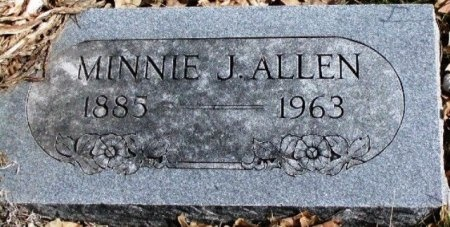 ALLEN, MINNIE JANE - Hood County, Texas | MINNIE JANE ALLEN - Texas Gravestone Photos