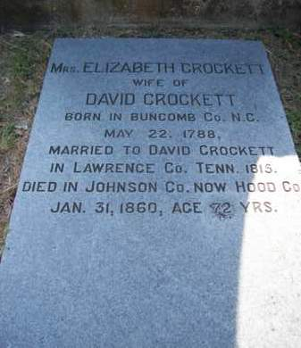 CROCKETT, ELIZABETH - Hood County, Texas | ELIZABETH CROCKETT - Texas Gravestone Photos