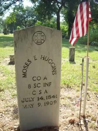 HUGGINS {VETERAN CSA}, MOSES E. - Hood County, Texas | MOSES E. HUGGINS {VETERAN CSA} - Texas Gravestone Photos