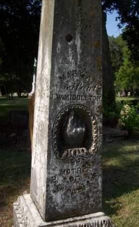 MIDDLETON, MARY - Hood County, Texas | MARY MIDDLETON - Texas Gravestone Photos