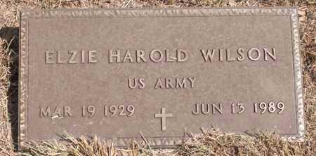 WILSON (VETERAN), ELZIE HAROLD - Hood County, Texas | ELZIE HAROLD WILSON (VETERAN) - Texas Gravestone Photos