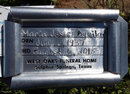 AGUILAR, MARIA JESUS (FHM) - Hopkins County, Texas | MARIA JESUS (FHM) AGUILAR - Texas Gravestone Photos