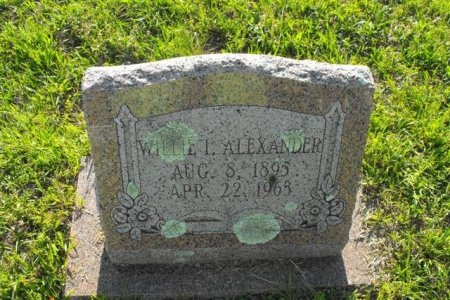 ALEXANDER, WILLIE I - Hopkins County, Texas | WILLIE I ALEXANDER - Texas Gravestone Photos