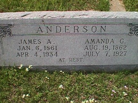 ANDERSON, JAMES A - Hopkins County, Texas | JAMES A ANDERSON - Texas Gravestone Photos
