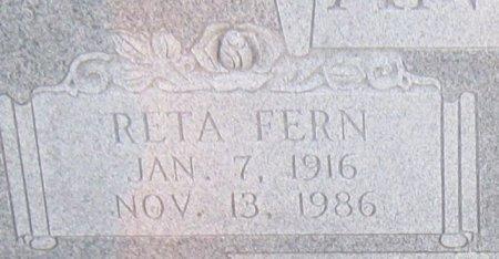SPRINGER ANDERSON, RETA FERN (CLOSEUP) - Hopkins County, Texas | RETA FERN (CLOSEUP) SPRINGER ANDERSON - Texas Gravestone Photos