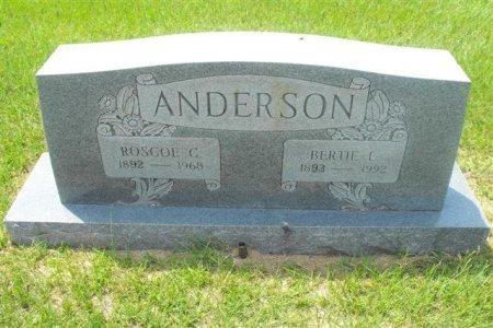 CAWTHRON ANDERSON, BERTIE L - Hopkins County, Texas | BERTIE L CAWTHRON ANDERSON - Texas Gravestone Photos