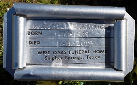 GRIMES, WENDELL C (FHM) - Hopkins County, Texas | WENDELL C (FHM) GRIMES - Texas Gravestone Photos
