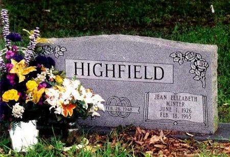 MINTER HIGHFIELD, JEAN ELIZABETH - Hopkins County, Texas | JEAN ELIZABETH MINTER HIGHFIELD - Texas Gravestone Photos