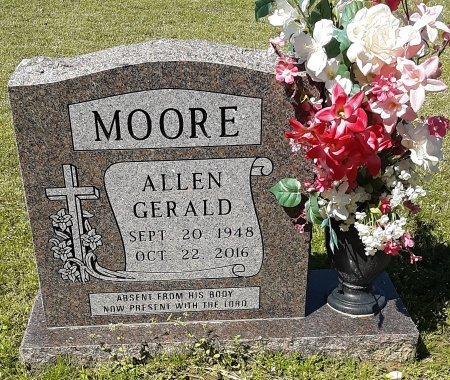 MOORE, ALLEN GERALD - Hopkins County, Texas | ALLEN GERALD MOORE - Texas Gravestone Photos