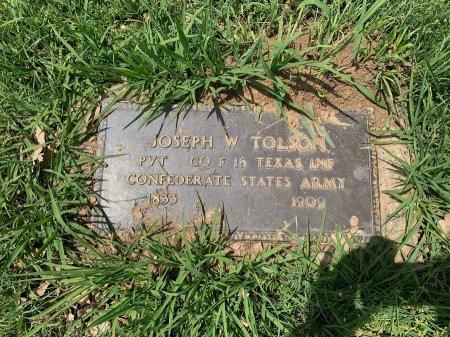 TOLSON (VETERAN CSA), JOSEPH W. - Hopkins County, Texas | JOSEPH W. TOLSON (VETERAN CSA) - Texas Gravestone Photos