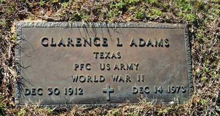 ADAMS (VETERAN WWII), CLARENCE LEONARD - Houston County, Texas   CLARENCE LEONARD ADAMS (VETERAN WWII) - Texas Gravestone Photos