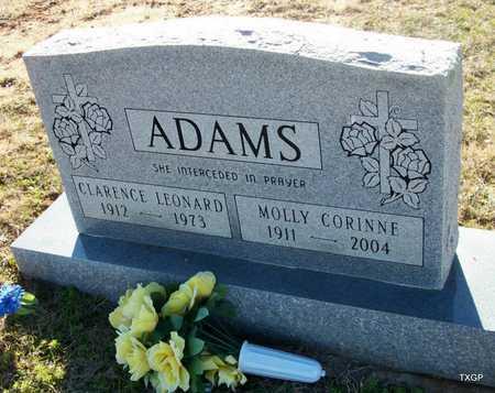 ADAMS, CLARENCE LEONARD - Houston County, Texas | CLARENCE LEONARD ADAMS - Texas Gravestone Photos