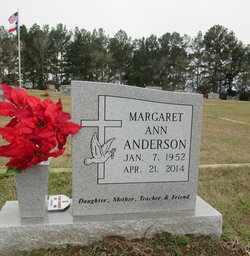 ANDERSON, MARGARET ANN - Houston County, Texas   MARGARET ANN ANDERSON - Texas Gravestone Photos