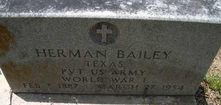 BAILEY (VETERAN WWI), HERMAN - Houston County, Texas | HERMAN BAILEY (VETERAN WWI) - Texas Gravestone Photos
