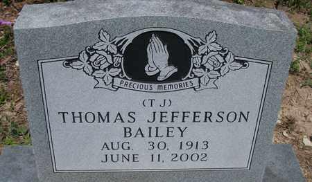 "BAILEY, THOMAS JEFFERSON ""T J"" - Houston County, Texas   THOMAS JEFFERSON ""T J"" BAILEY - Texas Gravestone Photos"