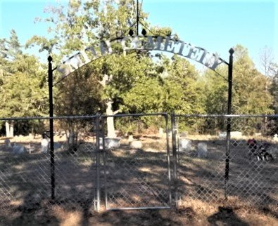 *CEMETERY GATE WITH SIGN,  - Houston County, Texas |  *CEMETERY GATE WITH SIGN - Texas Gravestone Photos