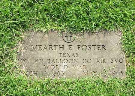 FOSTER (VETERAN WWI), MEARTH E - Houston County, Texas | MEARTH E FOSTER (VETERAN WWI) - Texas Gravestone Photos