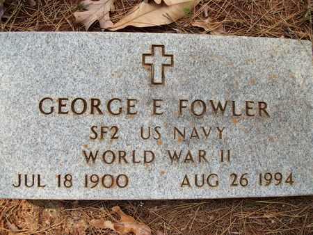FOWLER (VETERAN WWII), GEORGE EARL - Houston County, Texas   GEORGE EARL FOWLER (VETERAN WWII) - Texas Gravestone Photos