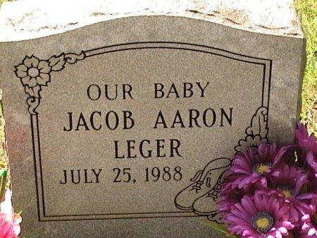 LEGER, JACOB AARON - Houston County, Texas | JACOB AARON LEGER - Texas Gravestone Photos