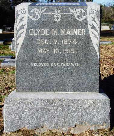 MAINER, CLYDE M. - Houston County, Texas | CLYDE M. MAINER - Texas Gravestone Photos