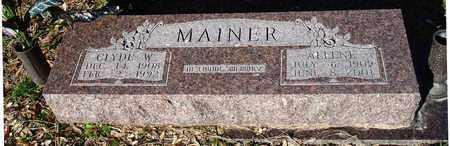 MAINER  (VETERAN WWII), CLYDE WILLIAM - Houston County, Texas | CLYDE WILLIAM MAINER  (VETERAN WWII) - Texas Gravestone Photos