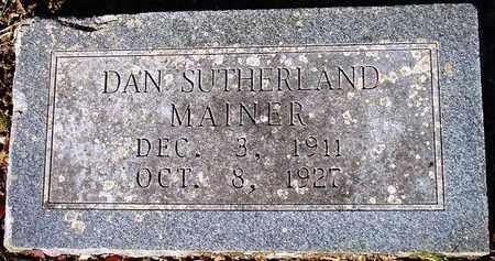 MAINER, DAN SUTHERLAND - Houston County, Texas | DAN SUTHERLAND MAINER - Texas Gravestone Photos
