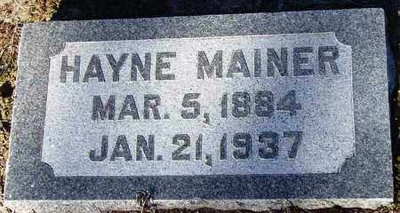 MAINER, HAYNE - Houston County, Texas | HAYNE MAINER - Texas Gravestone Photos