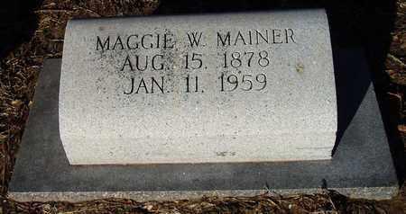 WILLIAMS MAINER, MAGGIE - Houston County, Texas | MAGGIE WILLIAMS MAINER - Texas Gravestone Photos