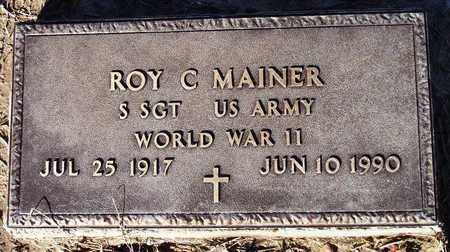 MAINER (ETERAN WWII), ROY CARTER - Houston County, Texas | ROY CARTER MAINER (ETERAN WWII) - Texas Gravestone Photos
