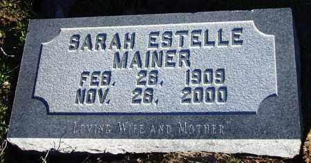 ESTELLE MAINER, SARAH - Houston County, Texas   SARAH ESTELLE MAINER - Texas Gravestone Photos