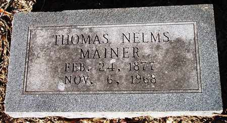 MAINER, THOMAS NELMS - Houston County, Texas | THOMAS NELMS MAINER - Texas Gravestone Photos