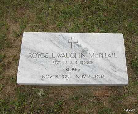 MCPHAIL (VETERAN KOR), ROYCE LAVAUGHAN - Houston County, Texas | ROYCE LAVAUGHAN MCPHAIL (VETERAN KOR) - Texas Gravestone Photos