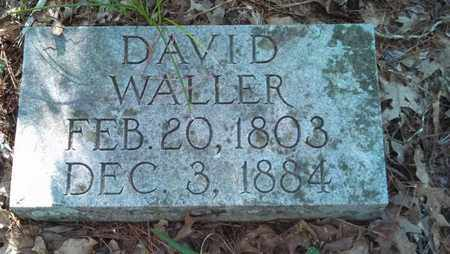 WALLER, DAVID - Houston County, Texas | DAVID WALLER - Texas Gravestone Photos