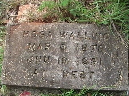 WALLING, HOSA - Houston County, Texas | HOSA WALLING - Texas Gravestone Photos