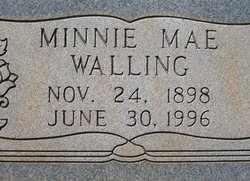 WALLING, MINNIE MAE (CLOSE UP) - Houston County, Texas | MINNIE MAE (CLOSE UP) WALLING - Texas Gravestone Photos