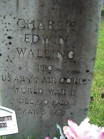 WALLING (VETERAN WWII), CHARLIE EDWIN - Houston County, Texas | CHARLIE EDWIN WALLING (VETERAN WWII) - Texas Gravestone Photos