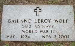 WOLF (VETERAN WWII), GAILAND LEROY - Houston County, Texas | GAILAND LEROY WOLF (VETERAN WWII) - Texas Gravestone Photos